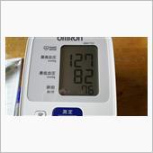 日曜朝の血圧測定