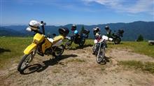 林道ツーリングで氷ノ山、ハチ高原、ハチ北、万場の各スキー場を走行