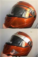 ヘルメットをアルミテープチューン