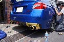 スバル WRX STI/S4用カーボンパーツフィッティングテスト中!