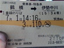 やっと。。。🚃💨鶴橋です!!