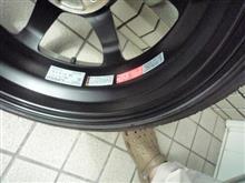 タイヤ&ホイール戻し&メンテ&重量測定