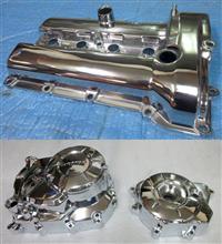 ヘッドカバーのバレル3次元研磨と二輪パーツのバレル研磨ベースクロームメッキ