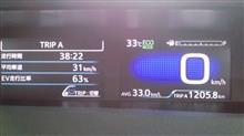何とか無給油1200km継続。
