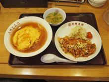 名神高速上り吹田SA ふわとろ天津飯と油淋鶏1080円