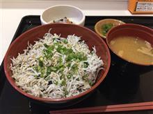 浜松SAで釜揚げしらす丼(°▽°)