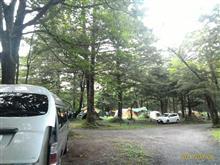 台風接近前の平湯キャンプ場