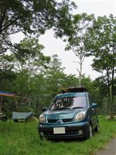カングーでキャンプ 2017 戸隠イースタンキャンプ場
