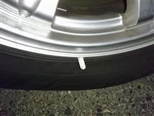 タイヤから何か生えてるが?