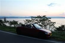弐代目BEAT君に乗って夕暮れの猪苗代湖へ。