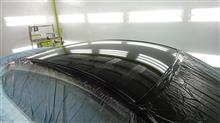 『マツダ アクセラ FRP製エアアロボンネット塗装、ルーフ艶ありブラック塗装』群馬県よりご来店のお客様です。