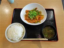 名神高速下り草津PA 夏の豚キムチ炒め定食780円