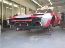 フェラーリディーノのツメ折 ベンツB170磨きコーティング