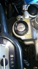 XTZ125・キーシリンダー表示を復活