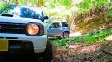 林道、キャンプのちに林道
