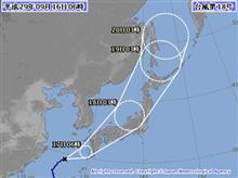 台風18号(タリム)日本列島縦断の予報