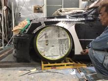 突然オーバーフェンダーについて語るわたし。18マジェスタのレクサス風サイドステップ製作!車高低すぎて走れなさそう。笑