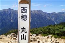 西穂 丸山 標高2462メートル 360°大パノラマ