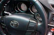 トヨタ マークX用ドライカーボン製パドルシフトカバーサンプルテスト!