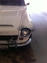 車の付けまつ毛が…