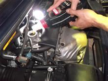 M子エンジンオイル交換。。。シングルハートさん。。。エンジンアンダーカバーが無い。。。