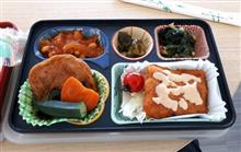 今週の締め弁当、チキンカツとさつま揚げの煮付け( *´艸)