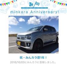 みんカラ歴1年!