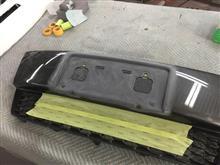ウイッシュ フロントグリル ナンバーフレーム ワンオフ加工 ドレスアップ 愛知県豊田市 倉地塗装 KRC