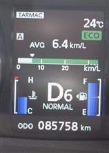 ミラー番 085758km