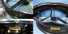 二輪アルミホイール(鋳造&鍛造)大きな曲り修理溶剤塗装&パウダーコート