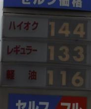 またもガソリン値上がり…