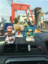 車内で日本頑張れ❗️