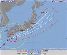 台風22号接近・・・。(ToT)