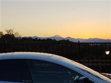 台風明けの富士山の夕焼け