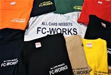 ★FC-WORKSオリジナルTシャツのお届け!で、次はトレーナー?(爆)落ち葉いっぱの駐車場で11月の奥多摩湖オフ開催です!