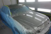『トヨタ セルシオ 飛び石キズ修理・塗装』 東京都練馬区よりご来店のお客様です。