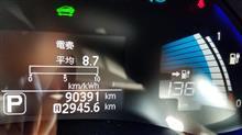 リーフ 90391km 3年8ヶ月 セグ欠け 12→11セグ突入
