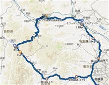 昨日のブログの走行ルート 約 500km です。
