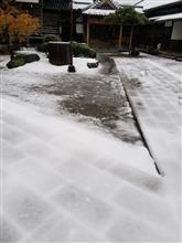 今シーズンの初雪!