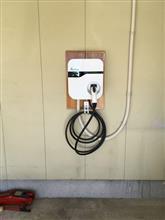 充電設備工事完了