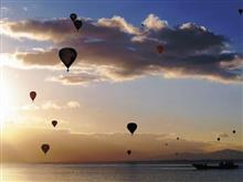 琵琶湖に浮かぶ気球♪