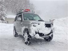 雪中シーズン到来。