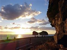 円月島の夕景を撮りに行ってきました