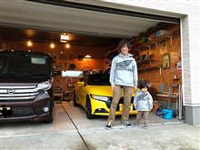 息子とお揃いのホンダパーカー買いました♪