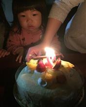 娘の2歳の誕生日♪