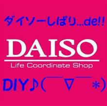 ダイソーしばり...de!! DIY♪( ̄∇ ̄*)