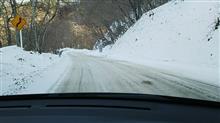 今シーズン初の雪道走行