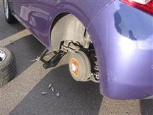 やっと、タイヤを交換しました