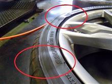 キケンが危ない!これがタイヤのセパレーション。