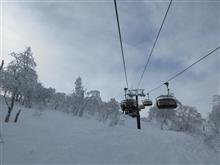 暮れに行った野沢温泉スキー場で